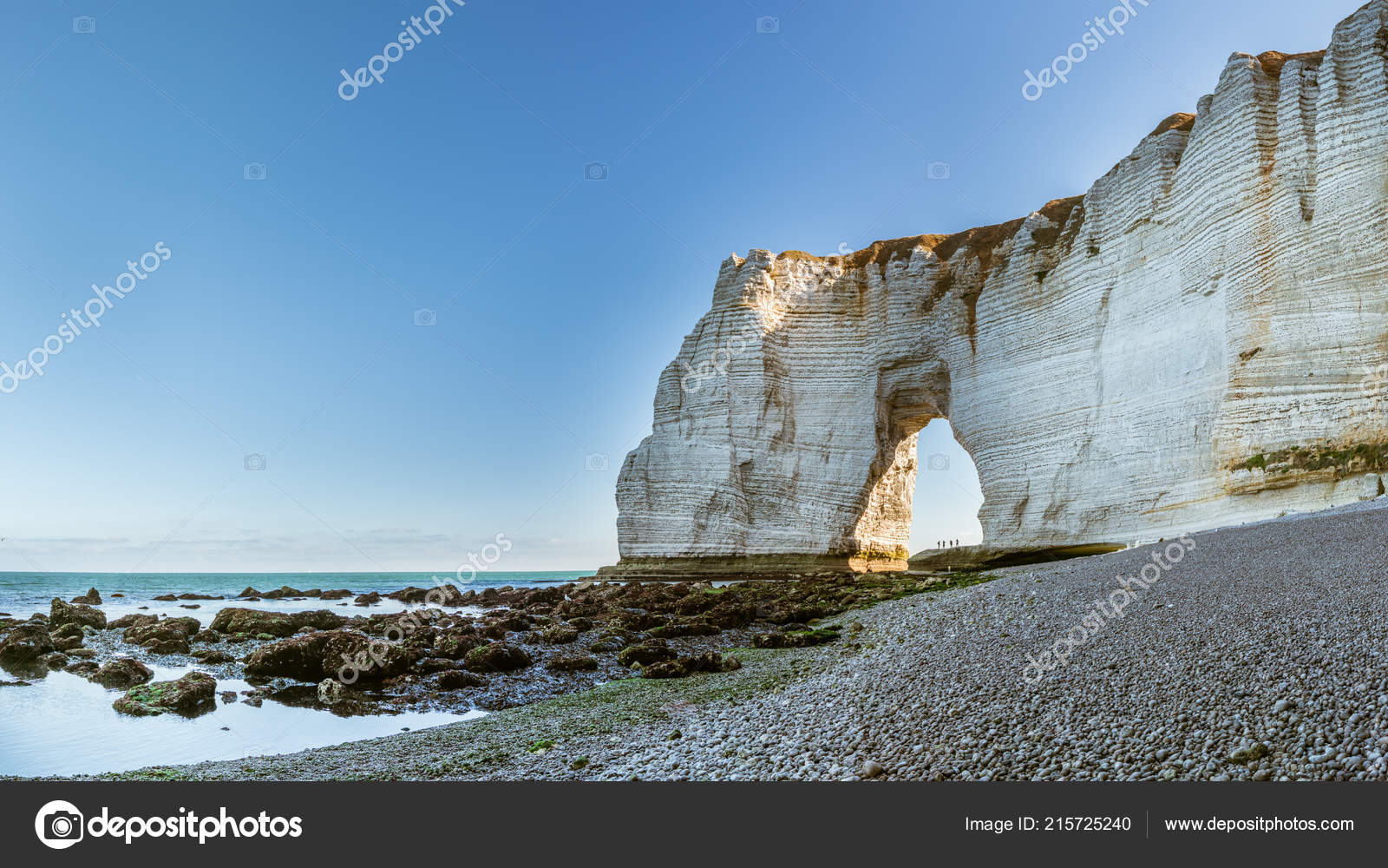 Chalk Cliffs Etretat Normandy France Natural Arch Called