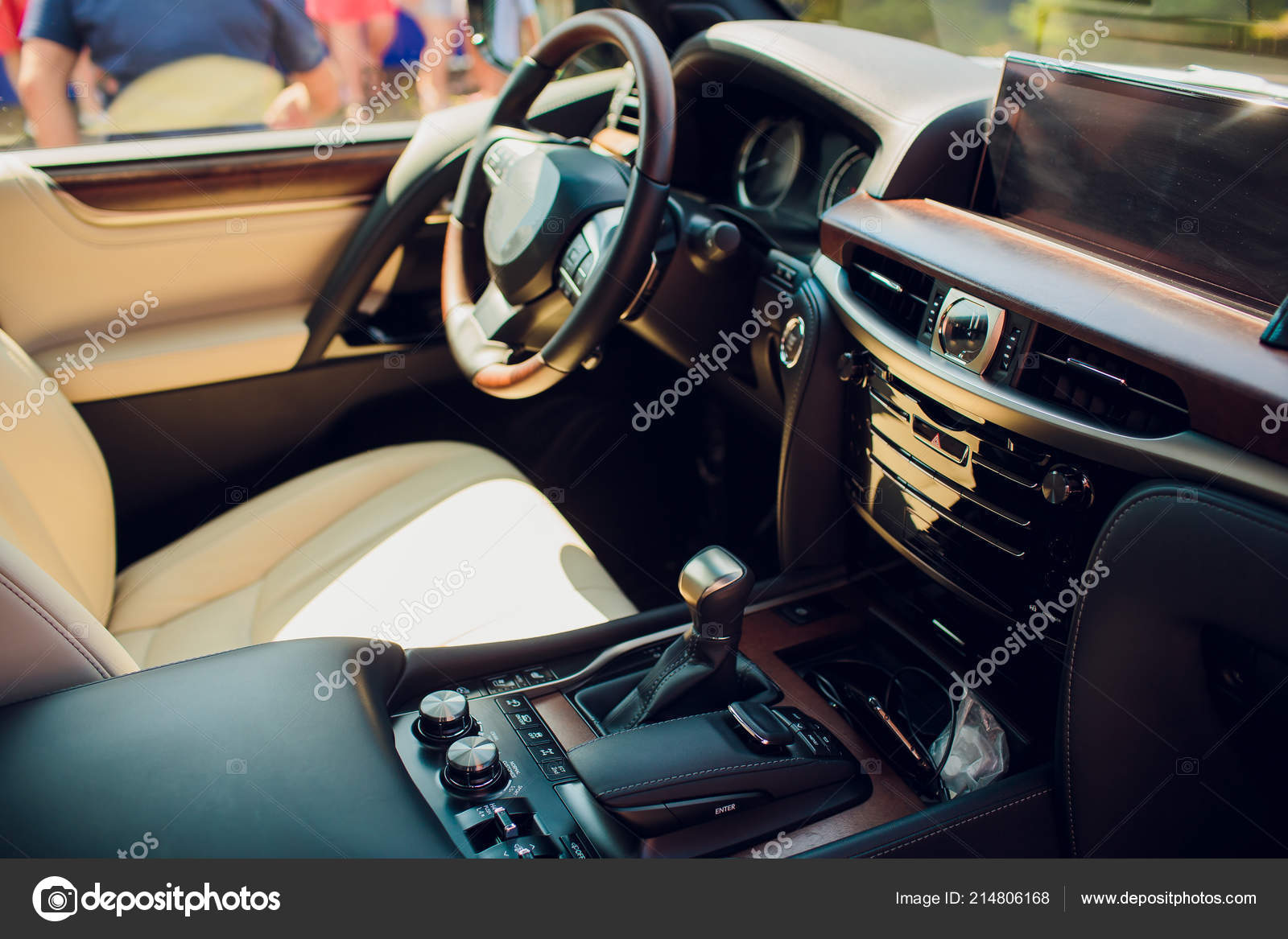 Car Interior Driver Side View. Modern Car Interior Design U2014 Stock Photo