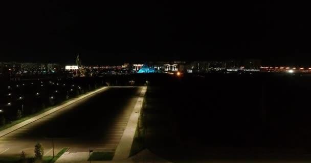 Video der Stadt Almaty, Kasachstan. Antennennacht.