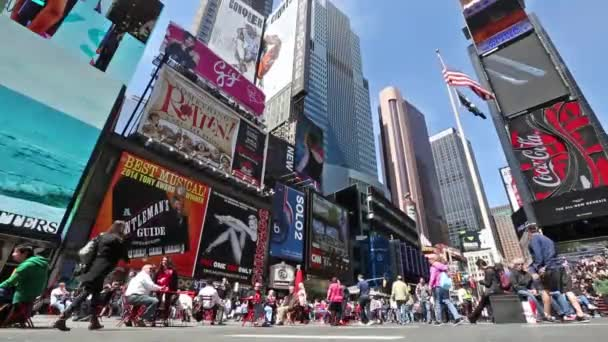 New york, New york, Usa. 2. září 2016: Pěší zóny plné davů na letní sobotní odpoledne na Times Square 4. září 2010 v New York City