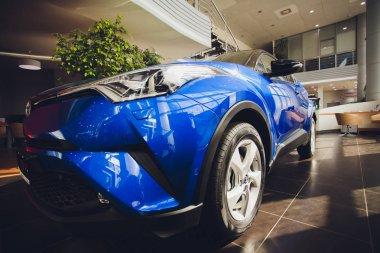 UFA, RUSSIA - JUNE 05 2018: Toyota CH-R 2018 auto show car sale