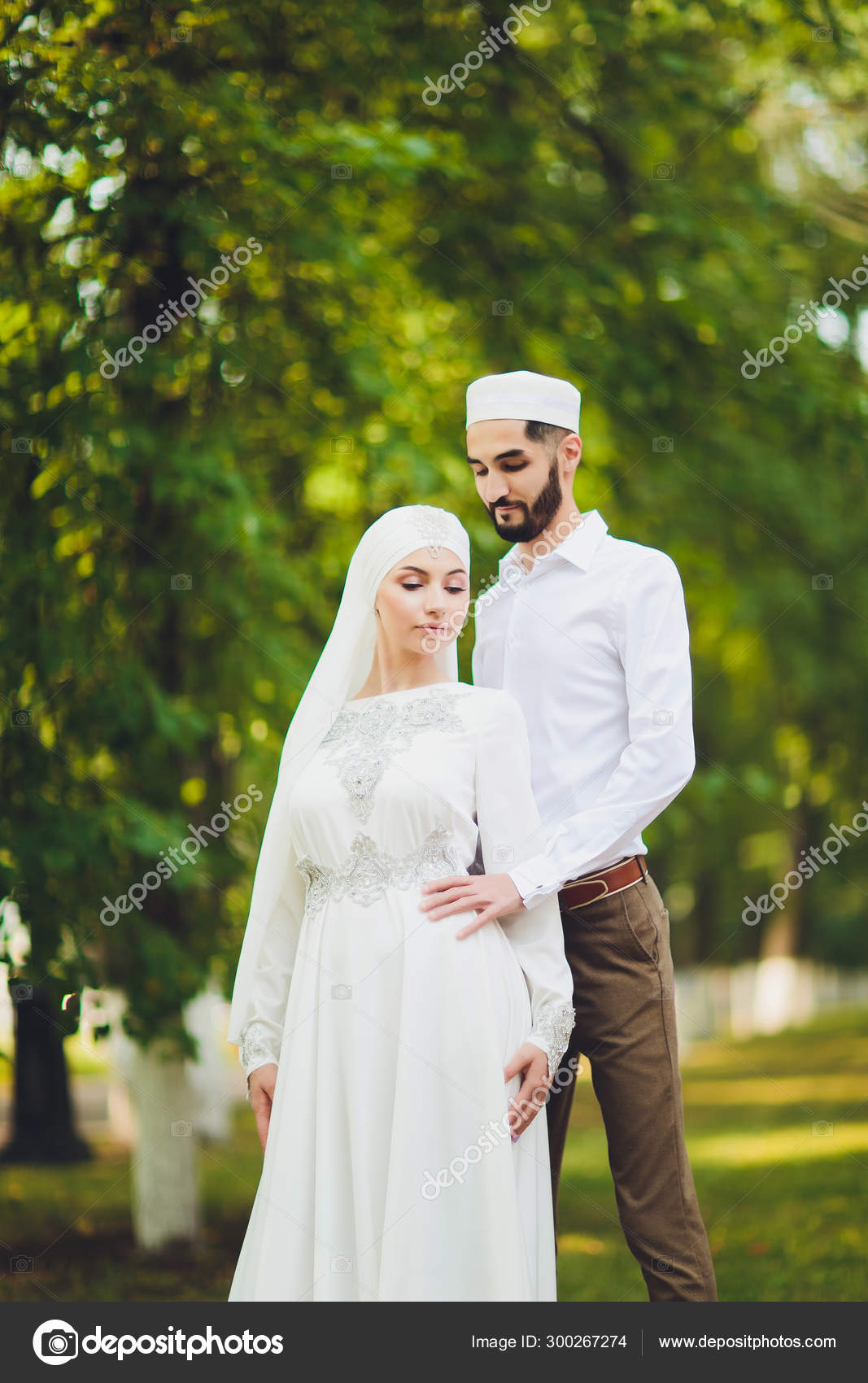 National wedding  Bride and groom  Wedding muslim couple