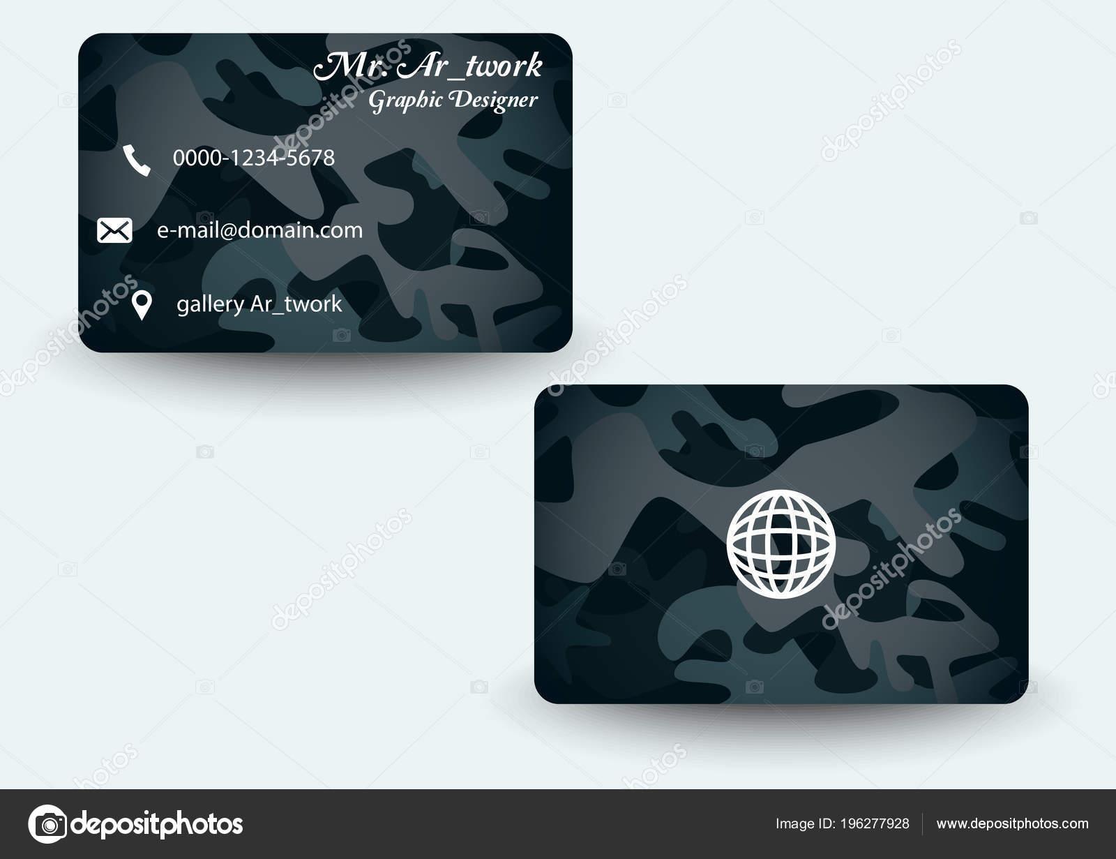 Armee Muster Visitenkarte — Stockvektor © AR_twork #196277928