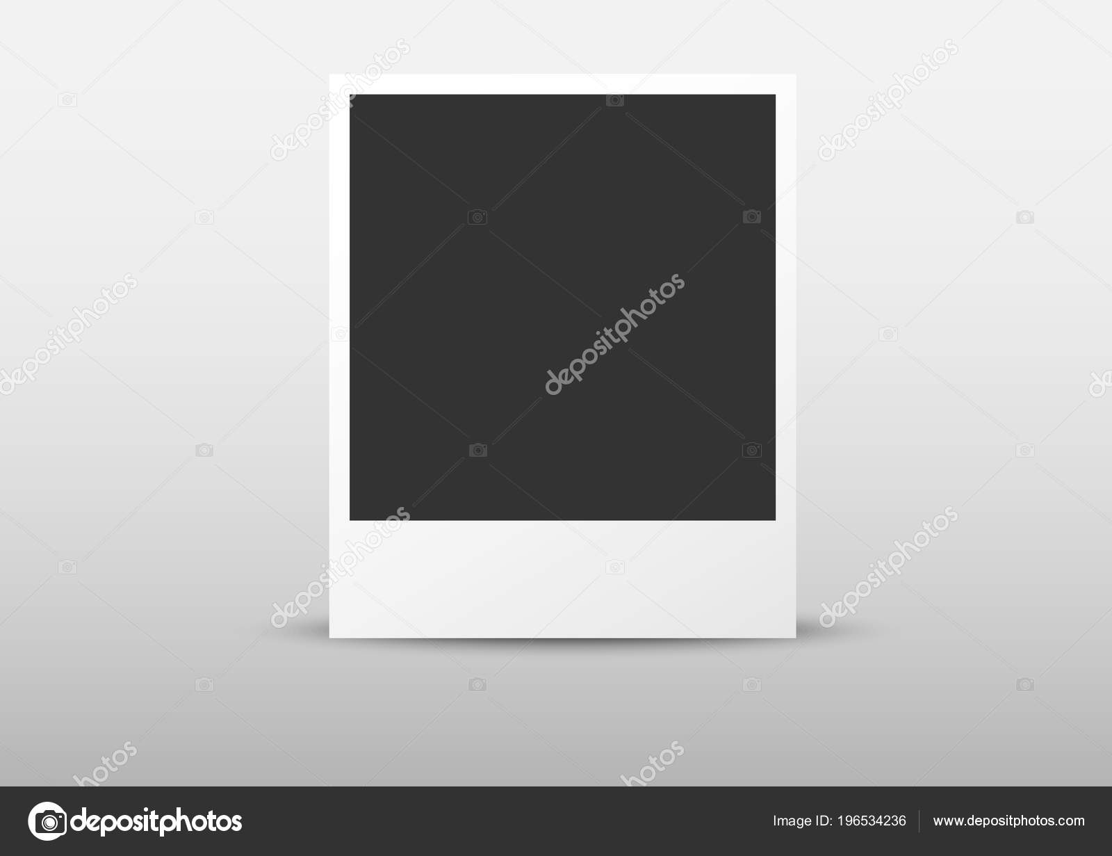 Standing Polaroid Object Template — Stock Vector © AR_twork #196534236