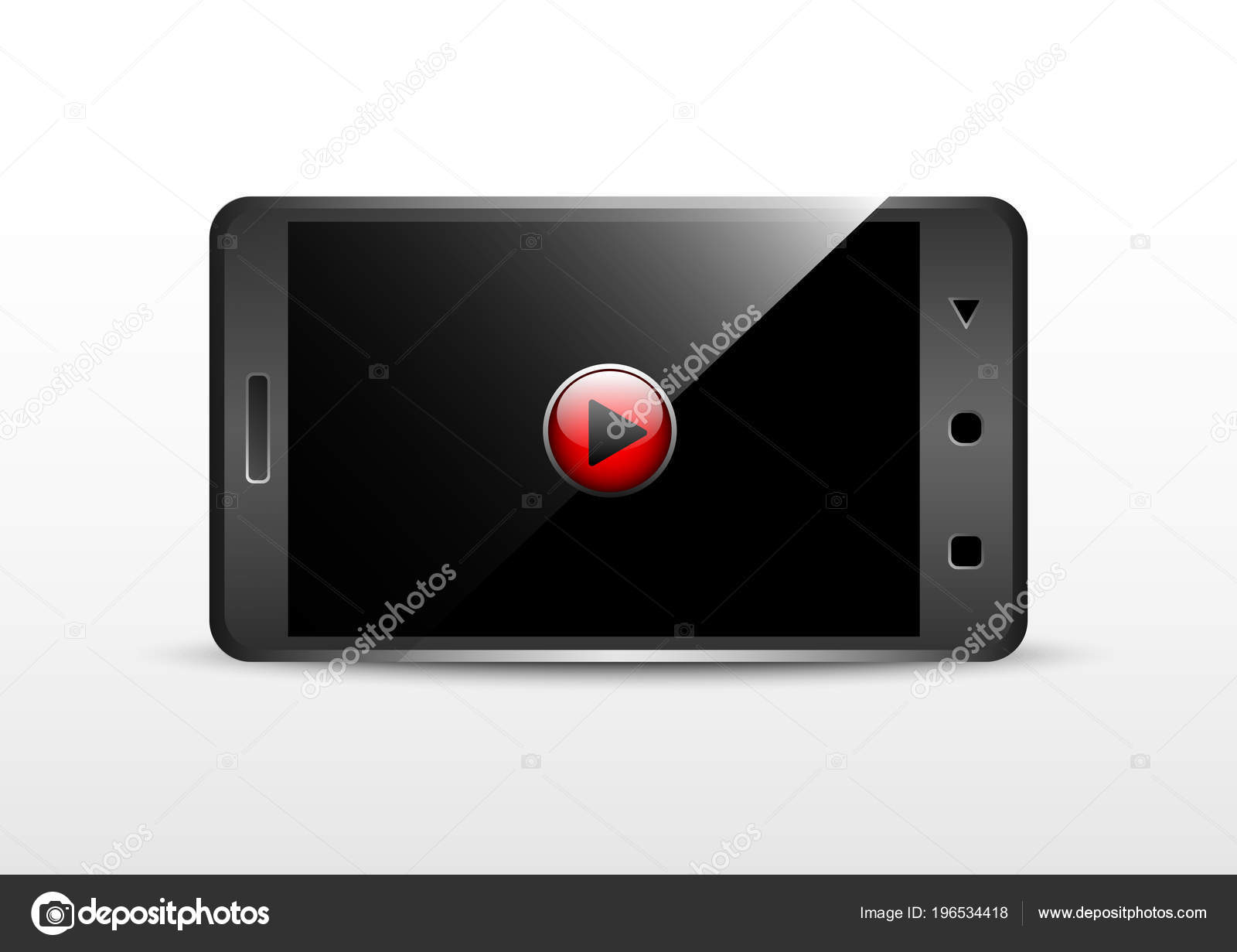 Rotación Paisaje Fotogramas Vídeo Smartphone — Vector de stock ...