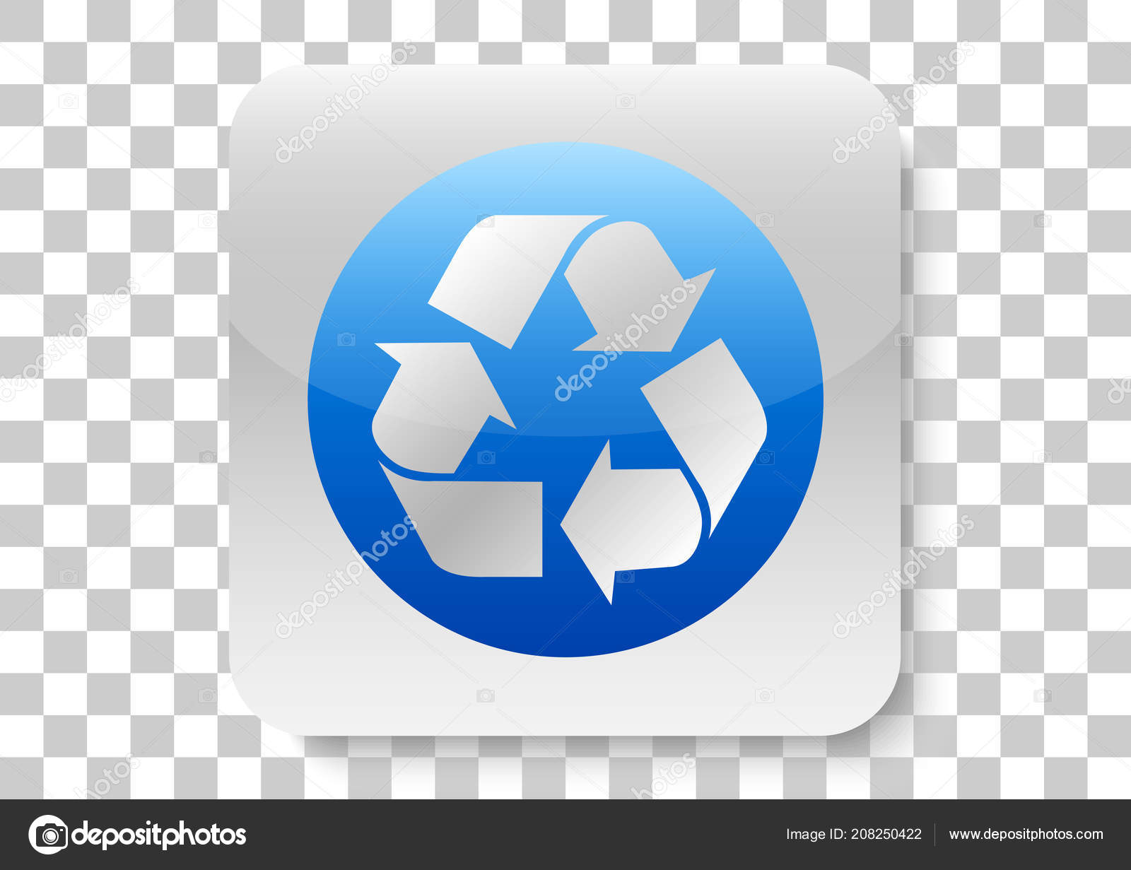 Recycle Button Icon Design — Stock Vector © AR_twork #208250422