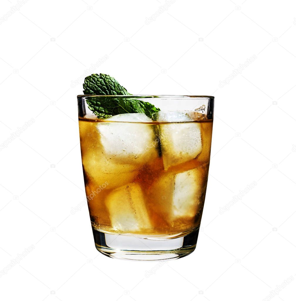 cocktail, rum, mint, ice, alcohol, cola, non-alcoholic, alcoholic