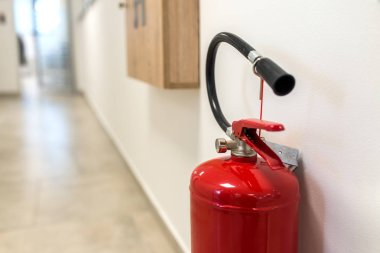 close-up photo of Fire extinguisher.