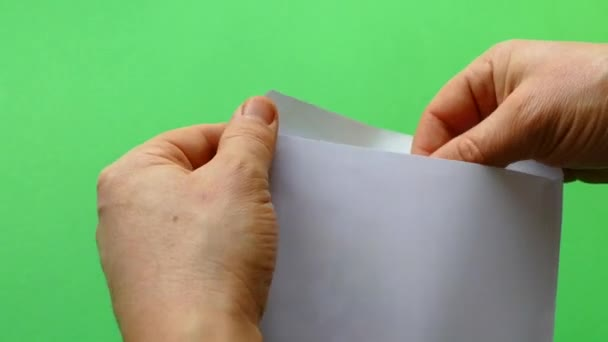 Happy Birthday Get Card Envelope Greeting Green Background Stock Video
