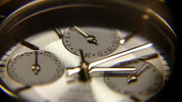 Clocks close up. The second hand moves on the clock. Time is running out