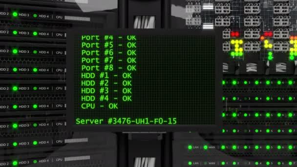 Moderne Server Arbeitsraum
