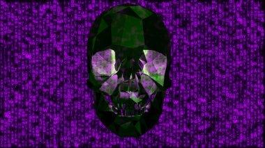 Computer Virus Infection Hacker Concept Purple