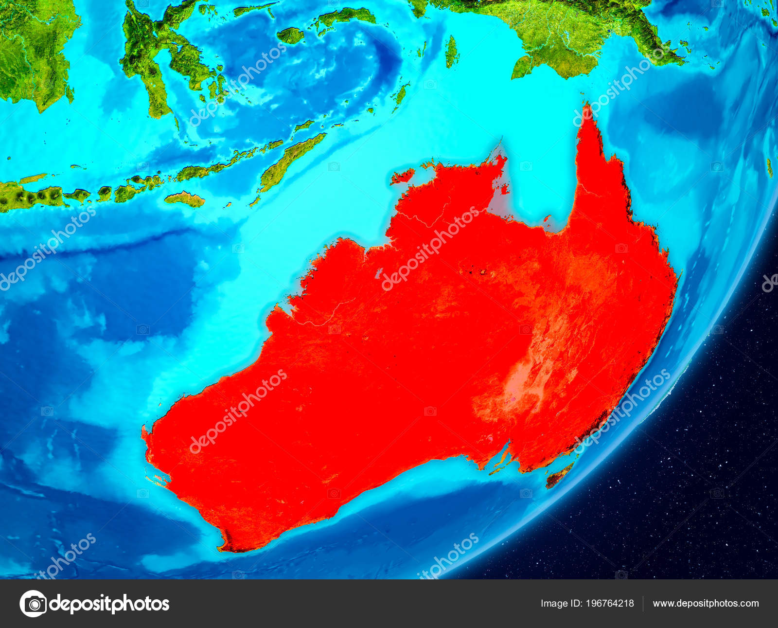 Map Of Australia From Space.Map Australia Seen Space Planet Earth Illustration Elements Image