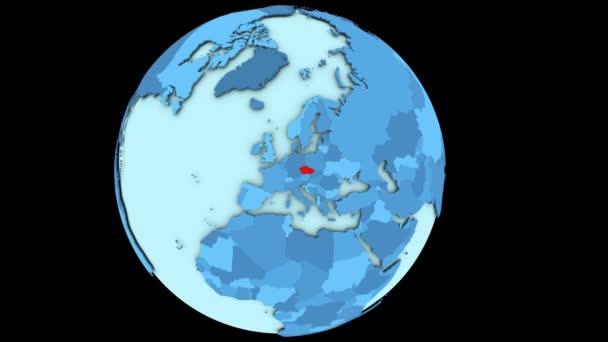 Czech republic on blue planet