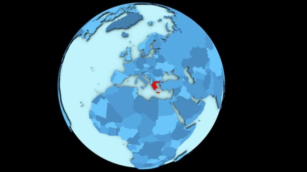 Greece on blue planet