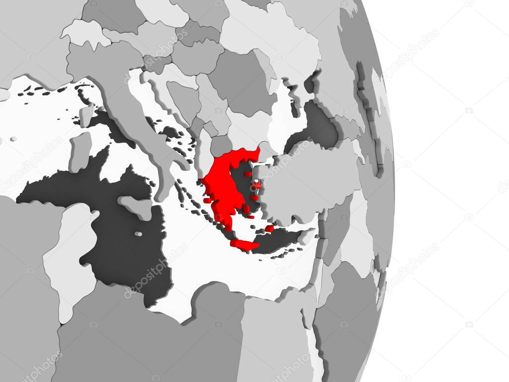 Icon0 Com Free Images Free Vector Free Photos Free Icons Free Illustrations For Personal Commercial And Noncommercial Use Greece Highlighted In Red On Grey Political Globe With Transparent Oceans 3d Illustration
