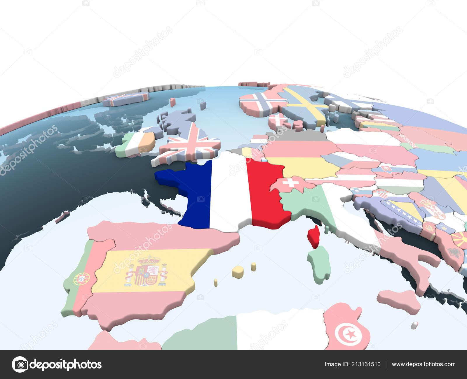 Франция на глобусе просто