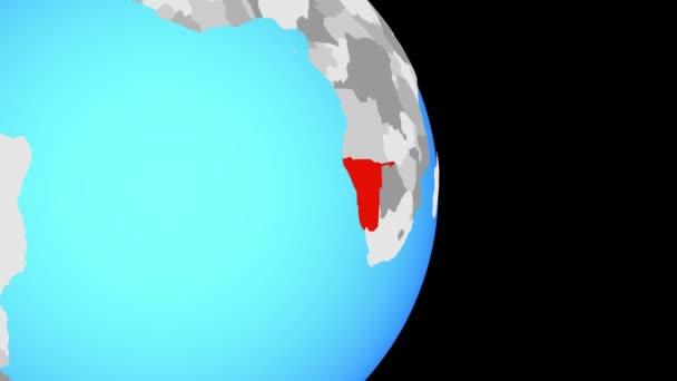 Zaznamenávám Namibie na jednoduché politické globe. 3D obrázek.