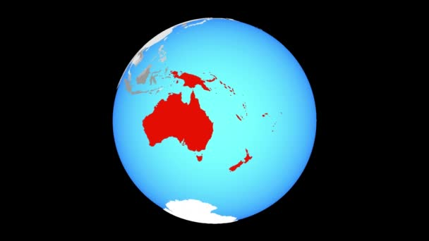 Australia Map Zoom.Zoom Australia Blue Political Globe Illustration Stock Video C Tom