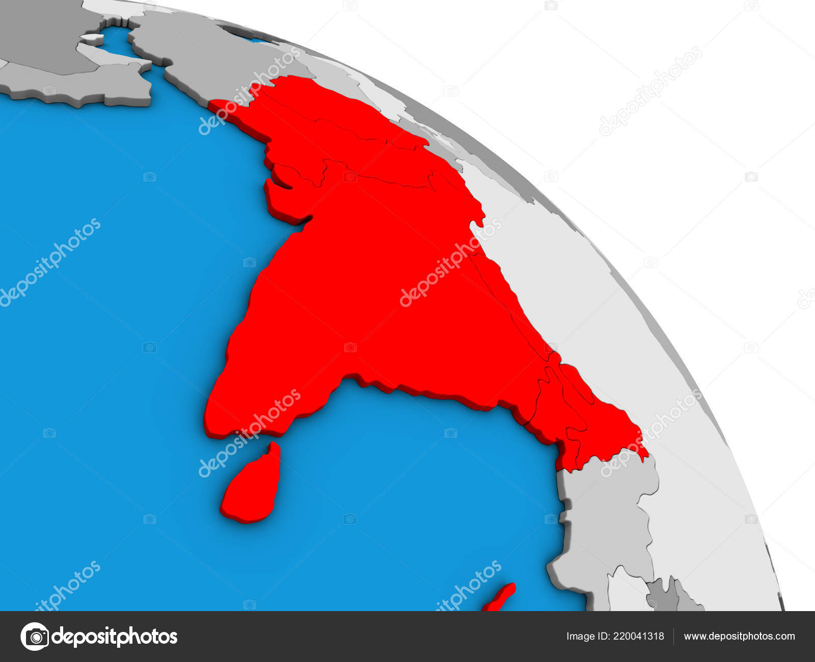 South Asia Simple Blue Political Globe Illustration — Stock ... on map of world globe, map of north america globe, map of new zealand globe, map of middle east globe,