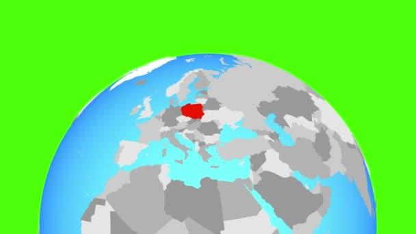 Polsko na zeměkouli