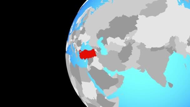 Schluss mit der Türkei auf blauer Welt