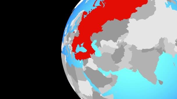 Schließen auf Schwarzmeerregion auf blauer Welt