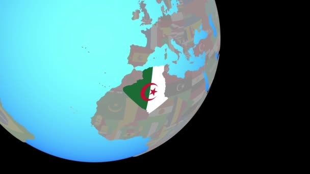 Closing in on Algeria with flag