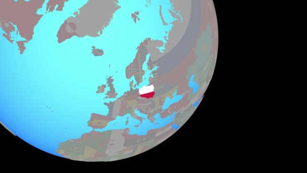 Closing in on Poland with flag