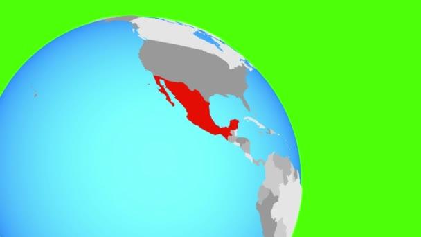 Zooming to Mexico on blue globe on detailed map mexico, punta mita mexico, leon mexico, queretaro mexico, michoacan mexico, san carlos mexico, guadalajara mexico, oaxaca mexico, jalisco mexico, puebla mexico, manzanillo mexico, tulum mexico, chiapas mexico, huatulco mexico, aguascalientes mexico, taxco mexico, cities in mexico, sinaloa mexico, nayarit mexico, mazatlan mexico,