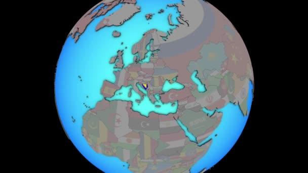 Bosna a Hercegovina s příznakem pro 3D mapu