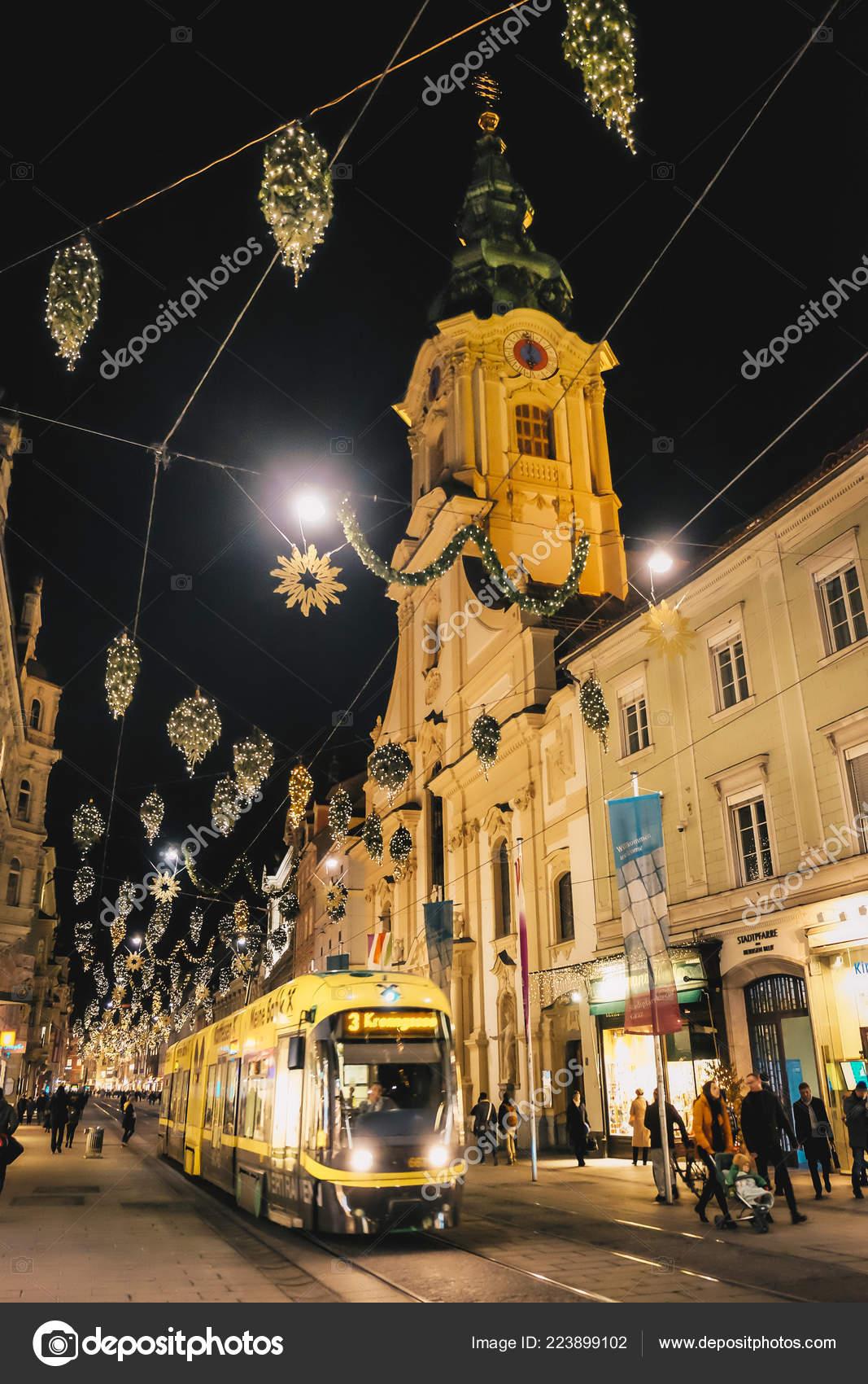 Christmas In Austria Holidays.Graz Austria December 2017 Christmas Decorations Streets