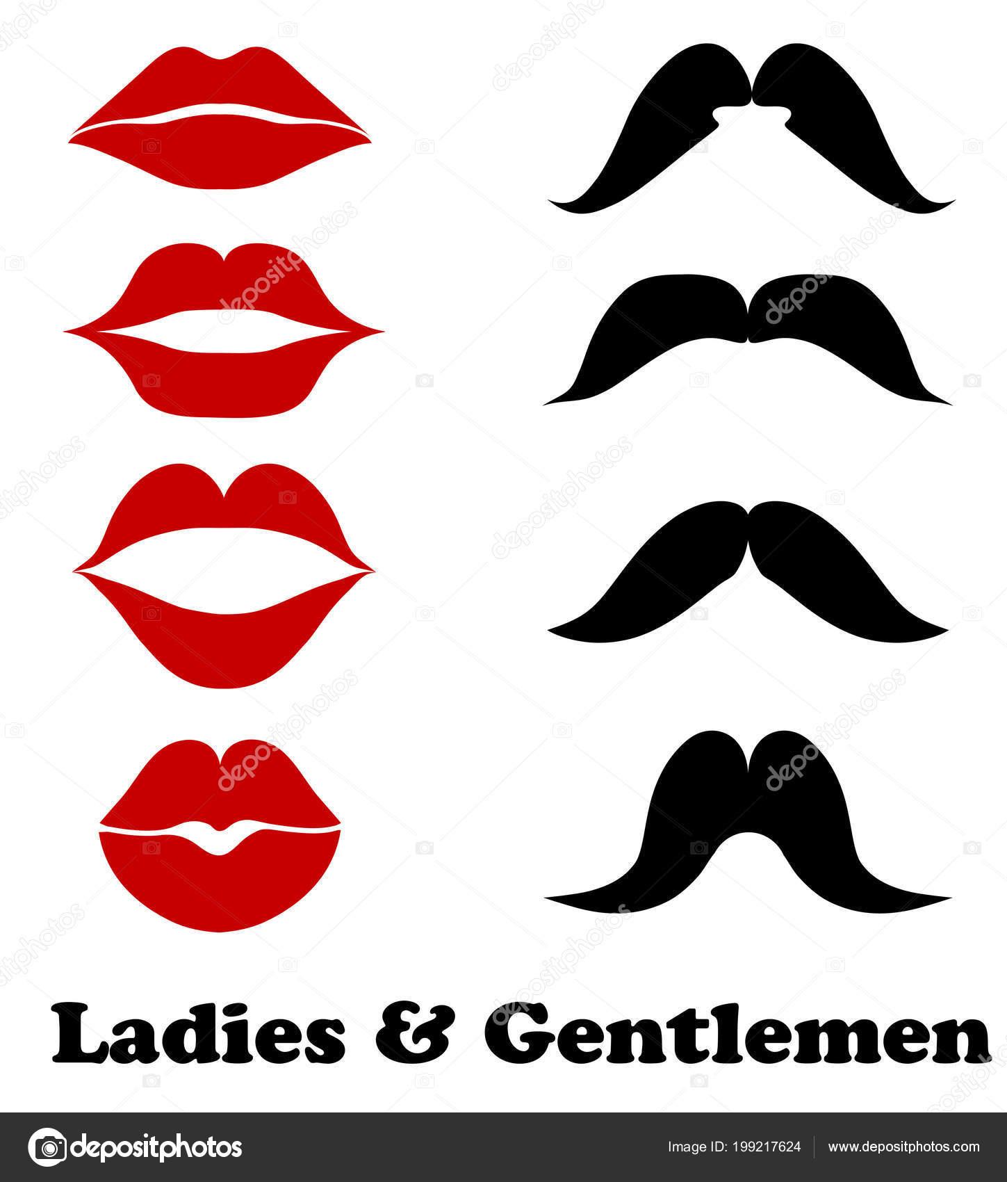ご列席の浴室のシンボル 株式ベクトル唇とヒゲ ファッション ビンテージ