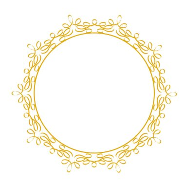 Decorative lace frame for your design, floral elements, on white, stock vector illustration