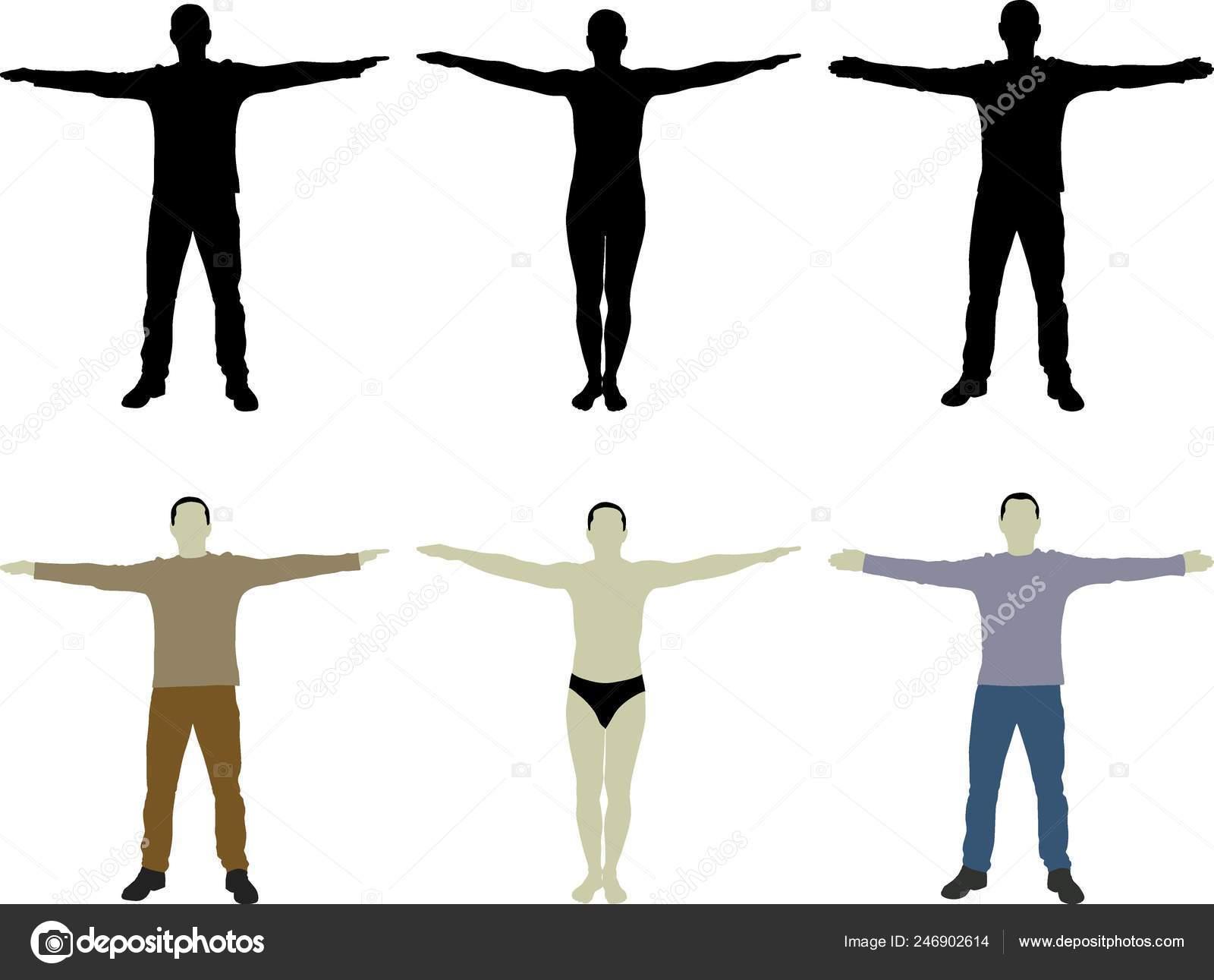 silhouette man open arms ⬇ vector image by © mtmmarek | vector stock  246902614  depositphotos