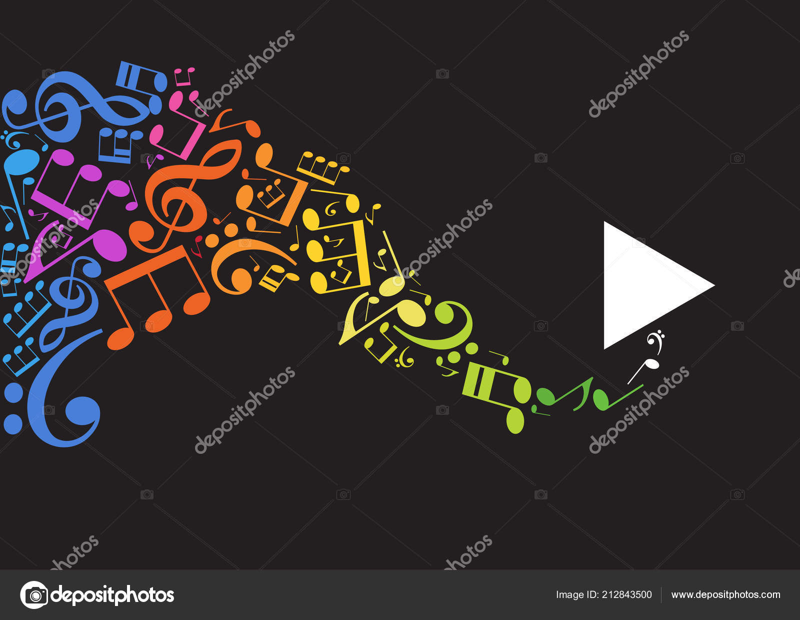 Müzik Arka Plan Müzik Notaları Ile Stok Vektör Vladgrin 212843500