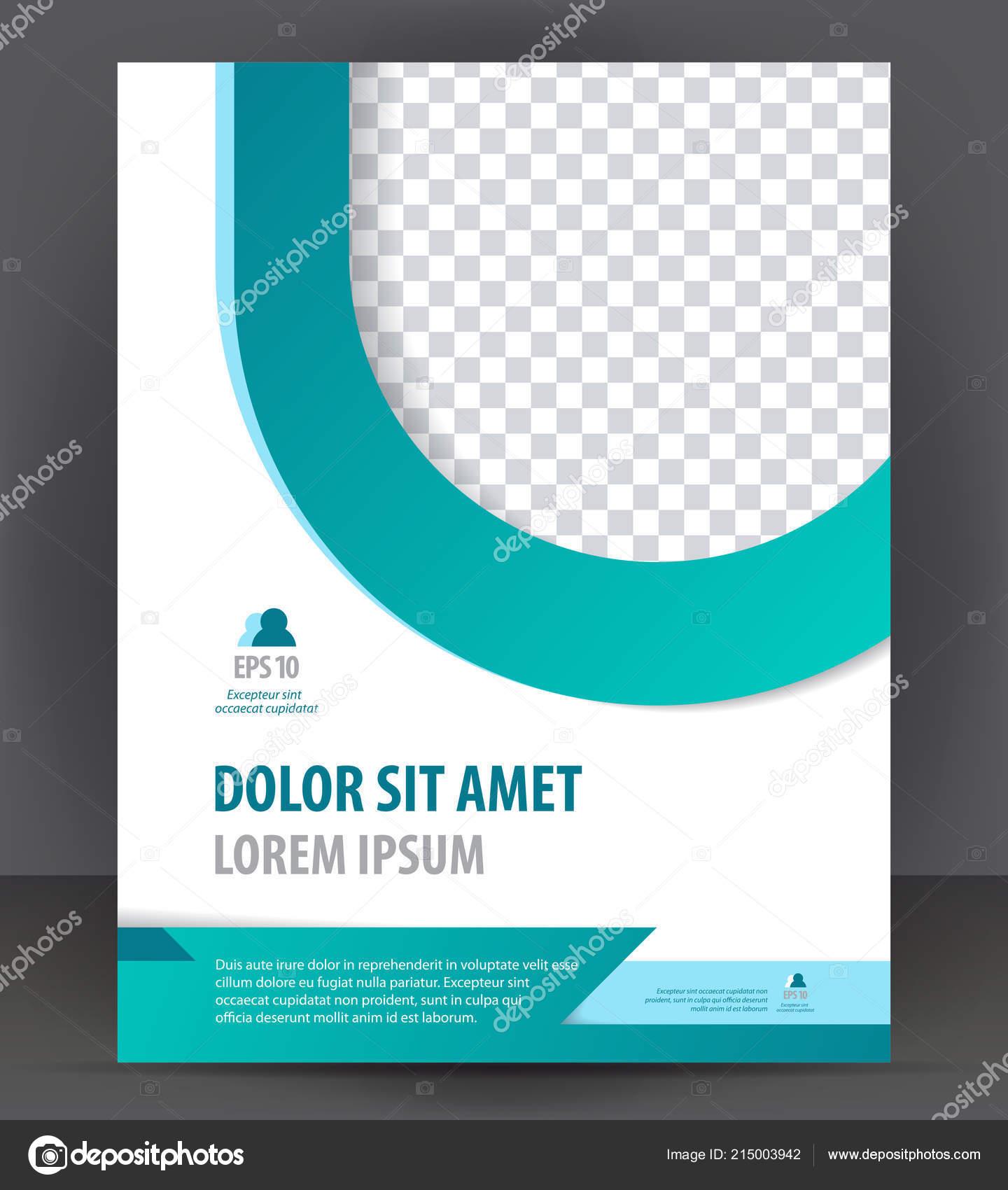 Brochure Flyer Modèle Impression Conception Mise Page Garde