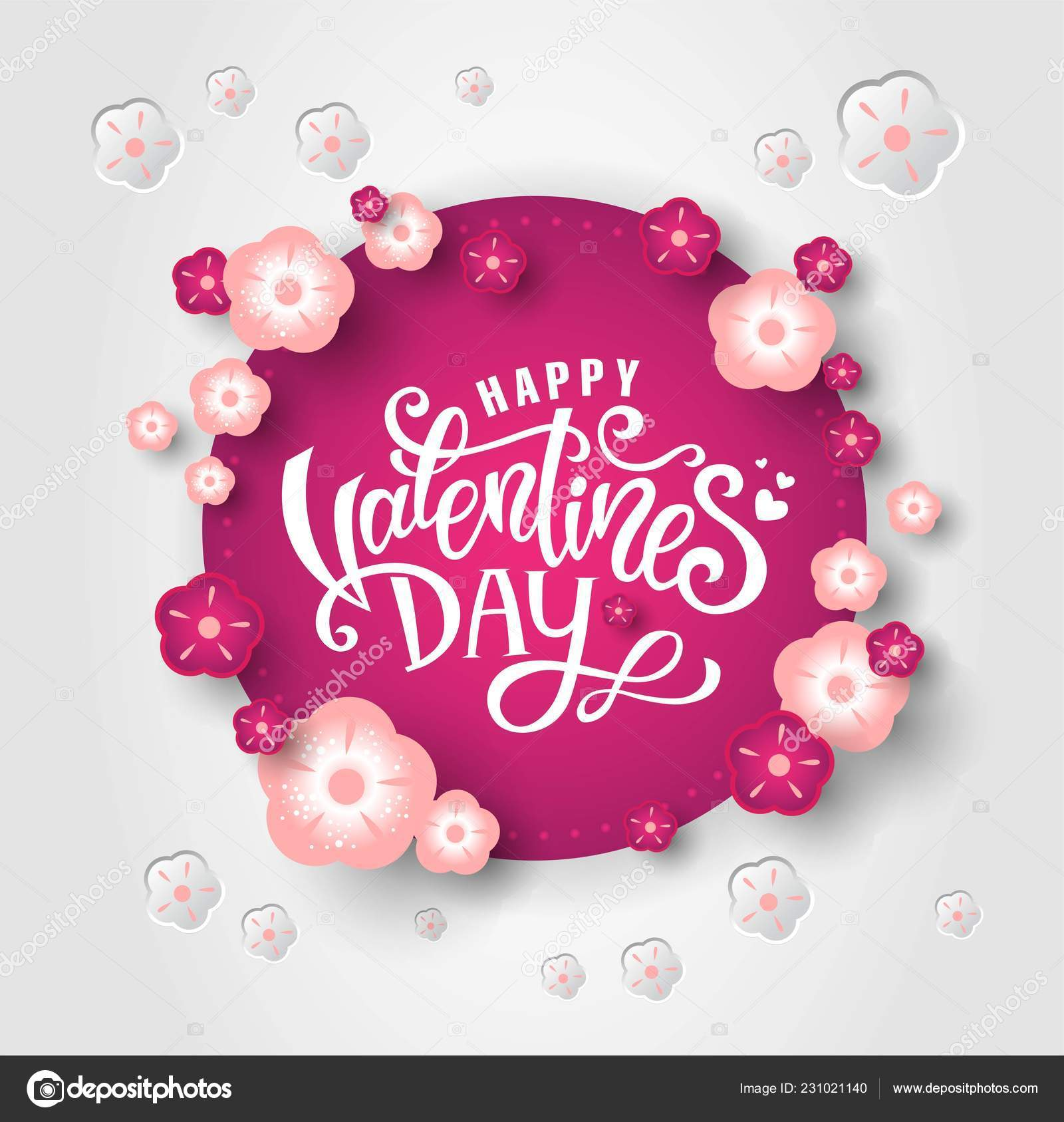 Feliz Día De San Valentín Diseño Archivo Imágenes Vectoriales
