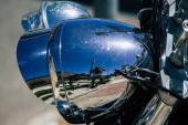 Limassol Ciprus június 12, 2020 Közelkép a mechanikai része egy motorkerékpár parkolt utcáin Limassol Cipruson sziget
