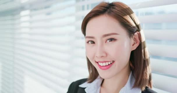 Businesswoman smile to you