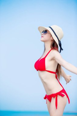 woman enjoy summer vacation