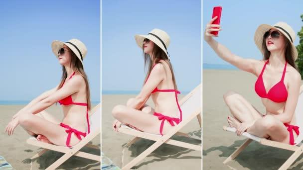 Bikini žena v létě