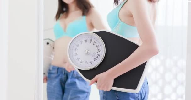 Girl lose weight success