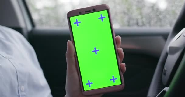phone with green screen