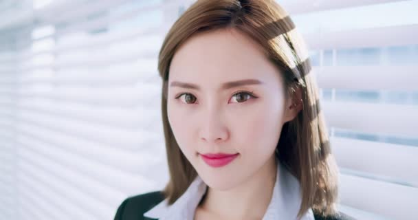 asian businesswoman smile to you