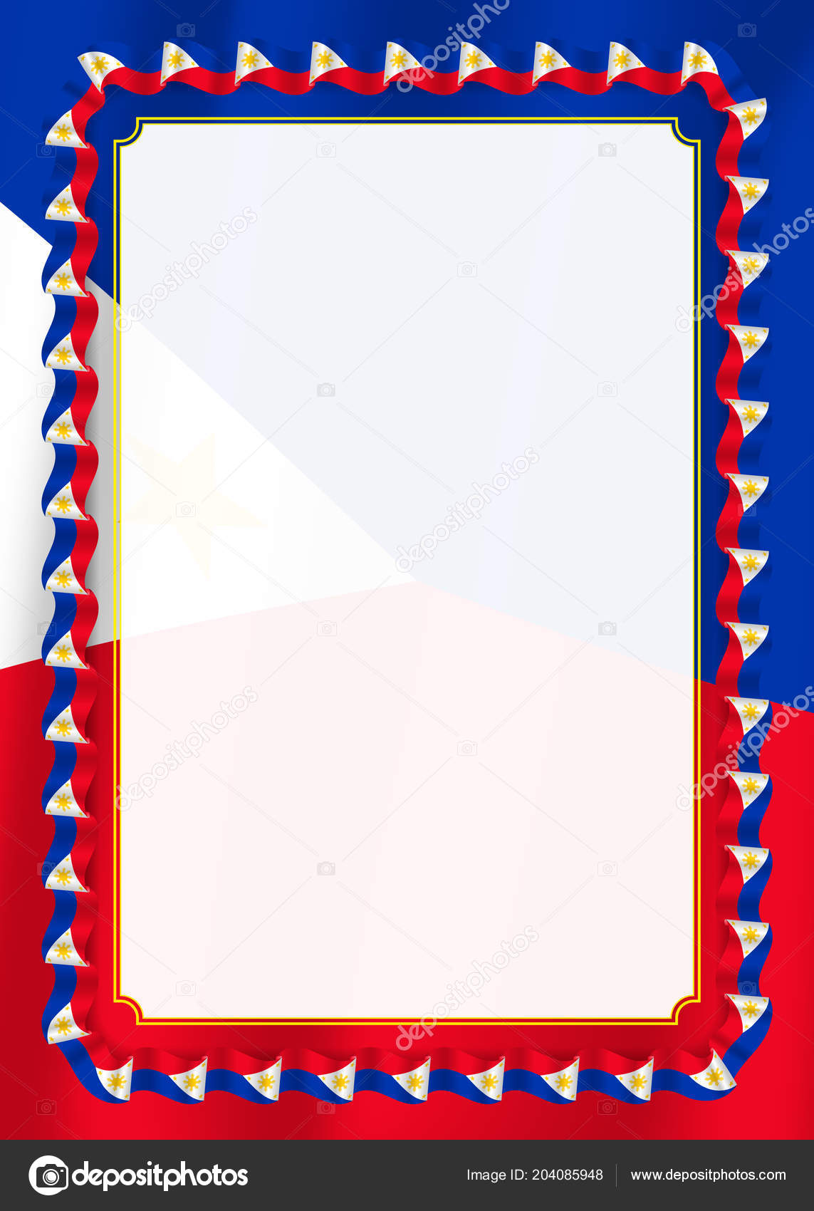 frame border ribbon philippines flag template elements your
