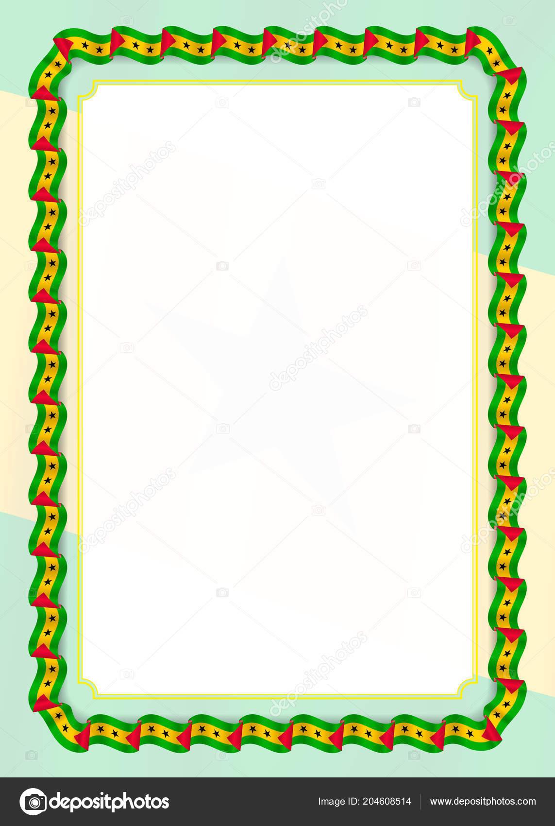 frame border ribbon sao tome principe flag template elements your