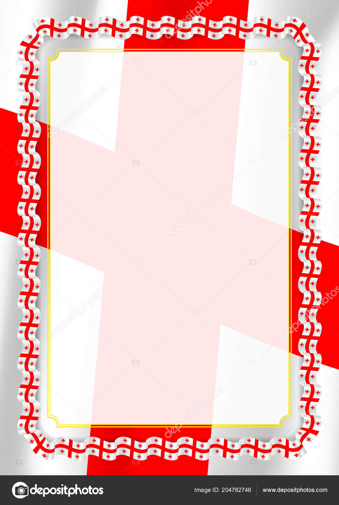 Frame Border Ribbon Georgia Flag Template Elements Your Certificate