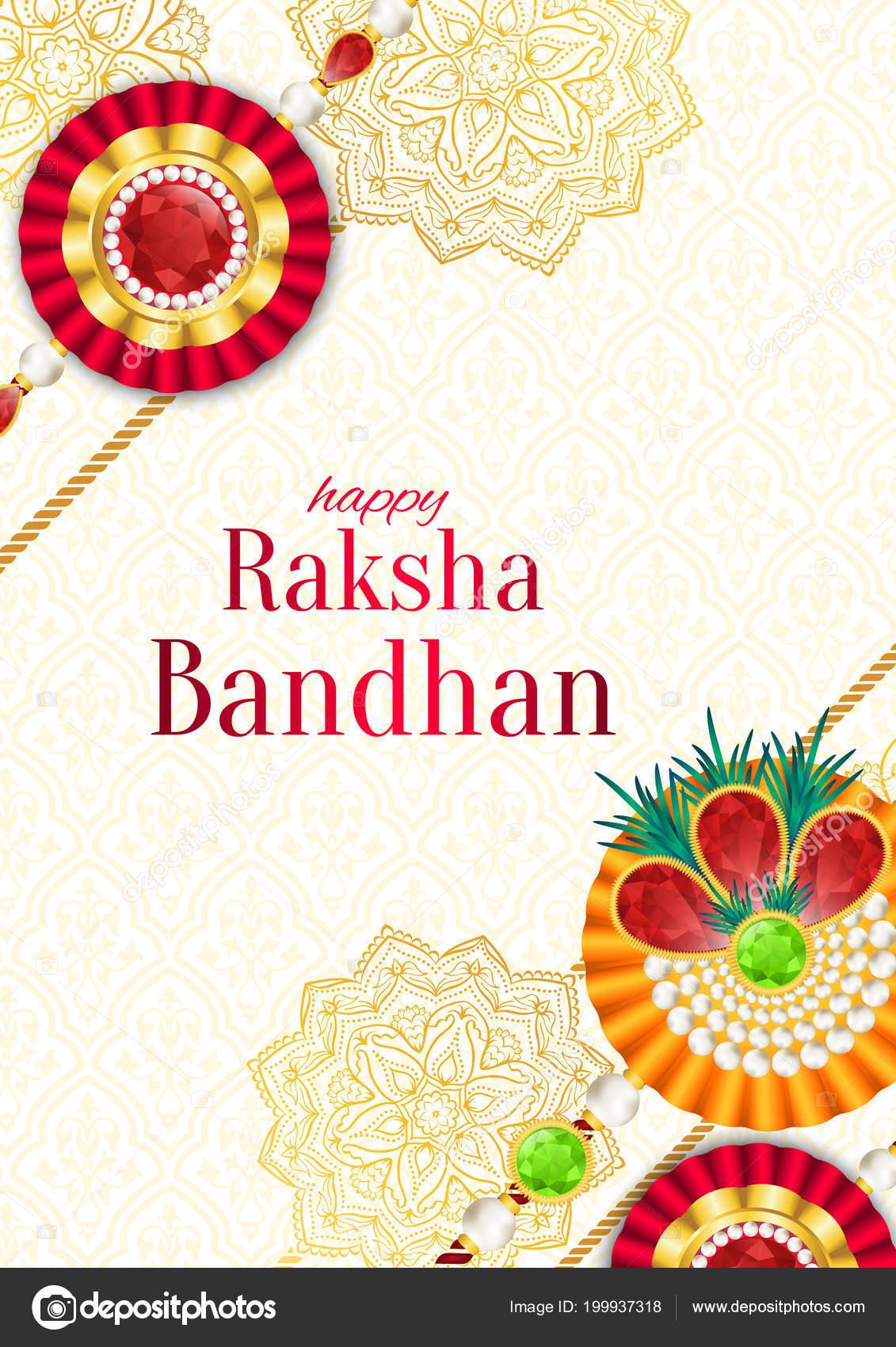 Raksha Bandhan Vector Background Rakshabandhan Greeting Card Rakhi