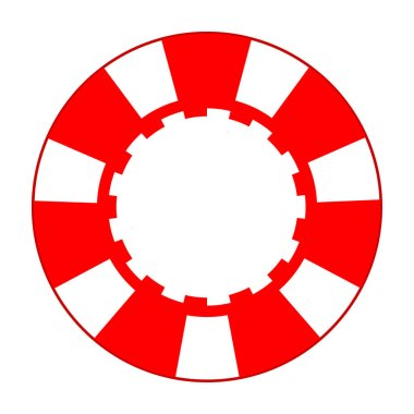 red and white casino chip